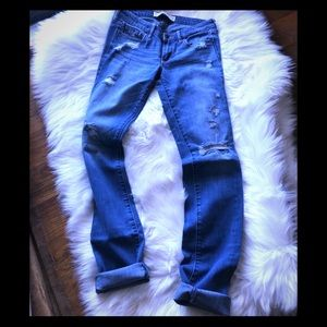 Abercrombie  distressed jeans 26
